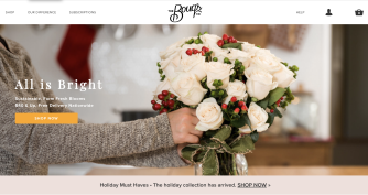Bouqs homepage
